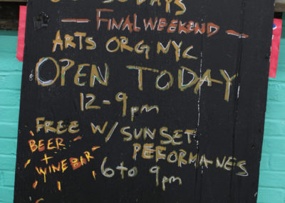 Board for LIC Open Studios. Photo: AO